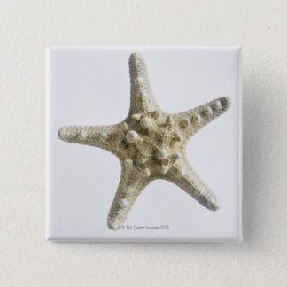 Starfish 15 Cm Square Badge
