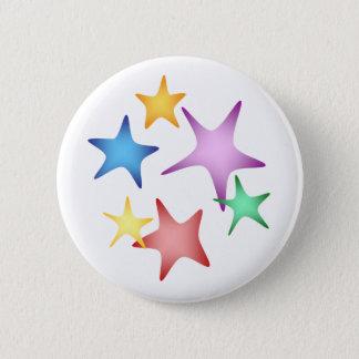 Starfish 6 Cm Round Badge