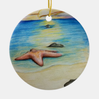 Starfish and the Shore Christmas Ornament
