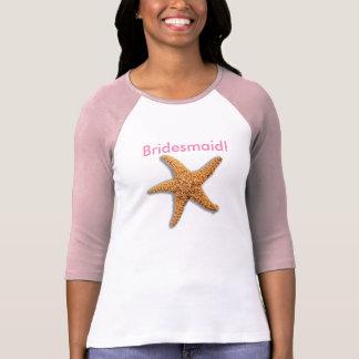 Starfish and Weathered Planks Beach T-Shirt
