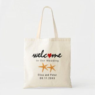 Starfish beach destination wedding welcome bag