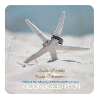 Starfish Beach Wedding 13 Cm X 13 Cm Square Invitation Card