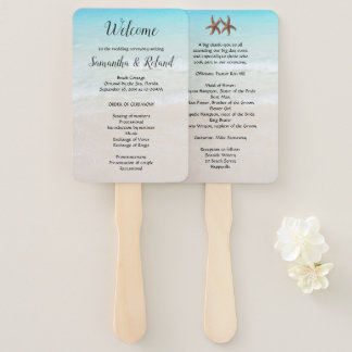 Starfish Couple Wedding Rectangular Fan Program