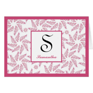 Starfish Cranberry Personalized Notecard