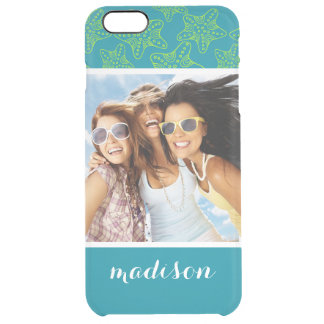 Starfish Crowd Pattern | Your Photo & Name Clear iPhone 6 Plus Case
