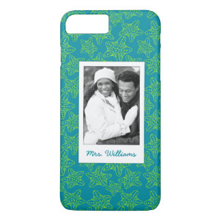 Starfish Crowd Pattern | Your Photo & Name iPhone 7 Plus Case