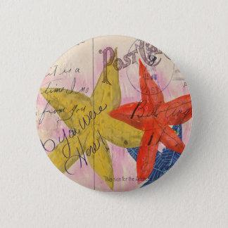 Starfish Postcard 6 Cm Round Badge