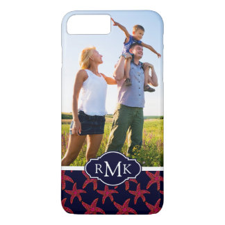 Starfish Style Pattern| Your Photo & Monogram iPhone 8 Plus/7 Plus Case