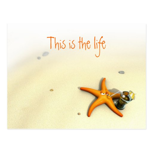 Starfish Vacation Post Card