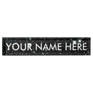 STARRY EXPANSE (v.2) (an outer space design) ~ Desk Name Plate