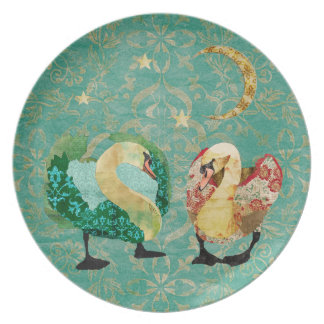 Starry Eyed Swans Plate