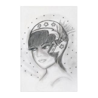 Starry Flapper Acrylic Print