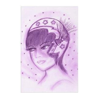 Starry Flapper - Purple Acrylic Print