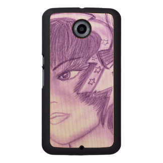 Starry Flapper - Purple Wood Phone Case