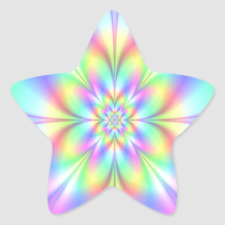 Starry Girl Blue Twirl Star Stickers
