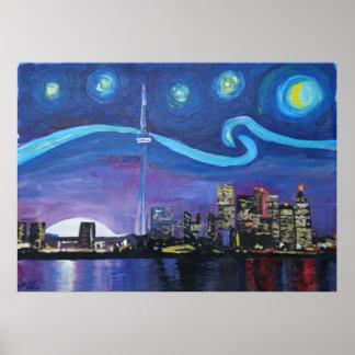 Starry Night at Toronto Poster