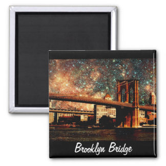 Starry night Brooklyn Bridge Magnet