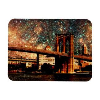 Starry Night Brooklyn Bridge Magnet