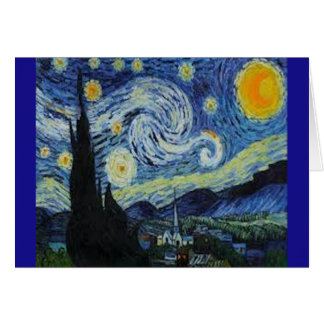 Starry Night by Van Gogh - Card and Envelope