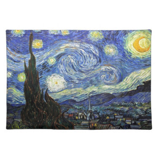 Starry Night By Vincent Van Gogh 1889 Placemat