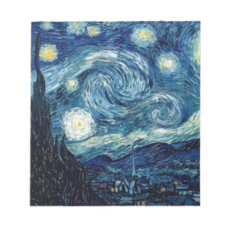 Starry Night By Vincent Van Gogh Notepad