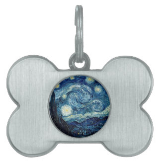 Starry Night By Vincent Van Gogh Pet Tag