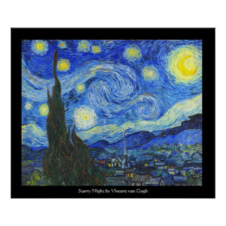 Starry Night by Vincent van Gogh Poster