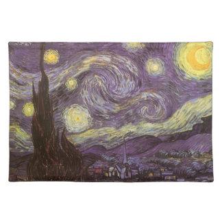 Starry Night by Vincent van Gogh, Vintage Fine Art Placemat