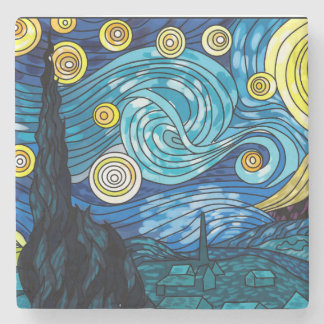 Starry Night Marble Coster Stone Coaster