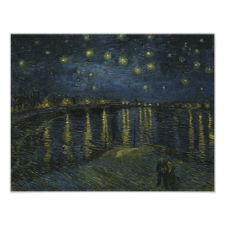 Starry Night Over the Rhone by Van Gogh Art Photo
