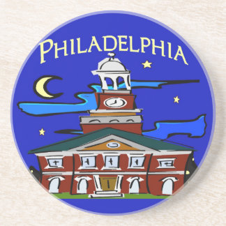 Starry Night Philly Moon Coaster