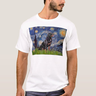 Starry Night - Rottweiler (#6) T-Shirt