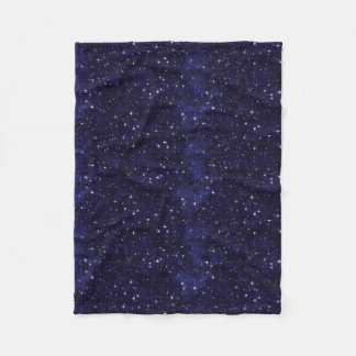 Starry Night Sky Grid Fleece Blanket
