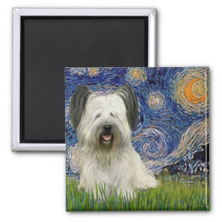 Starry Night - Skye Terrier (light) Magnet