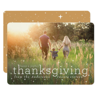 starry night thanksgiving card