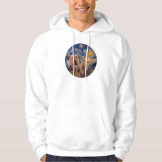 Starry Night - Two Airedales Hoodie