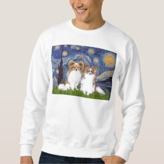Starry Night - Two Papillons Sweatshirt