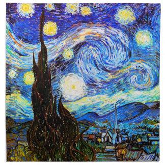 Starry Night Van Gogh Fine Art Napkin