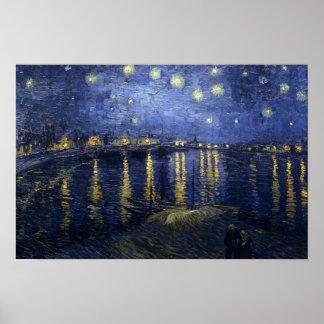 Starry Night Van Gogh Rhone Poster