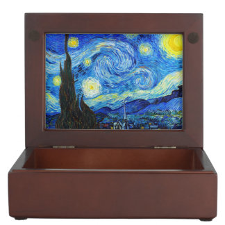 Starry Night Vincent Van Gogh painting ART Keepsake Box
