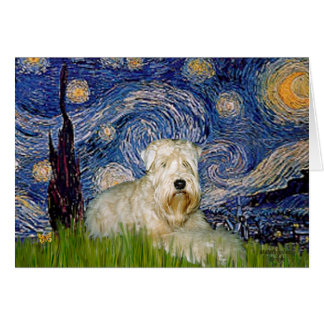 Starry Night - Wheaten Terrier 1 Card