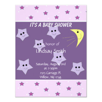 Stars and Moon Baby Shower Invitation