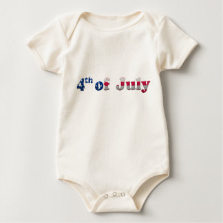 Stars and Stripes 4th of July Infant Creeper