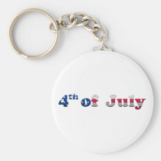 Stars and Stripes 4th of July Keychain