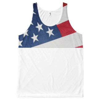 Stars and Stripes All-Over Print Singlet