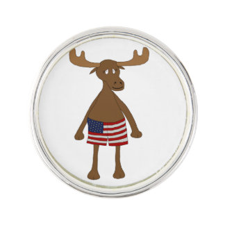 Stars and Stripes, Eh? Lapel Pin