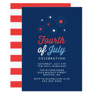 Stars and Stripes | Fourth of July Celebration Card