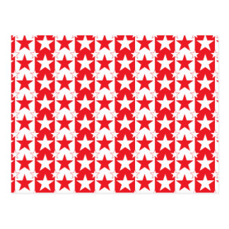 Stars and Stripes Pattern 2 Red Postcard