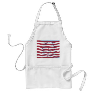 Stars and Stripes Peace Sign Flag Aprons