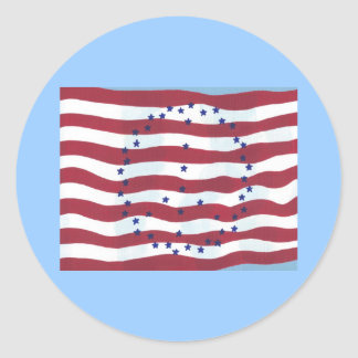 Stars and Stripes Peace Sign Flag Stickers